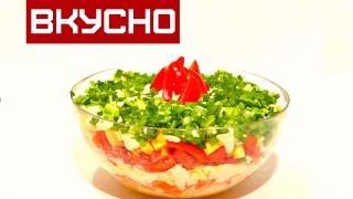 Ну ОЧЕНЬ Легкий САЛАТ с Болгарским перцем / Сыром /  //Salad with bell pepper / cheese / pineapple