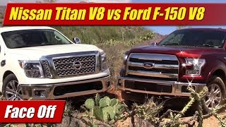 Face Off: Nissan Titan V8 vs Ford F-150 V8