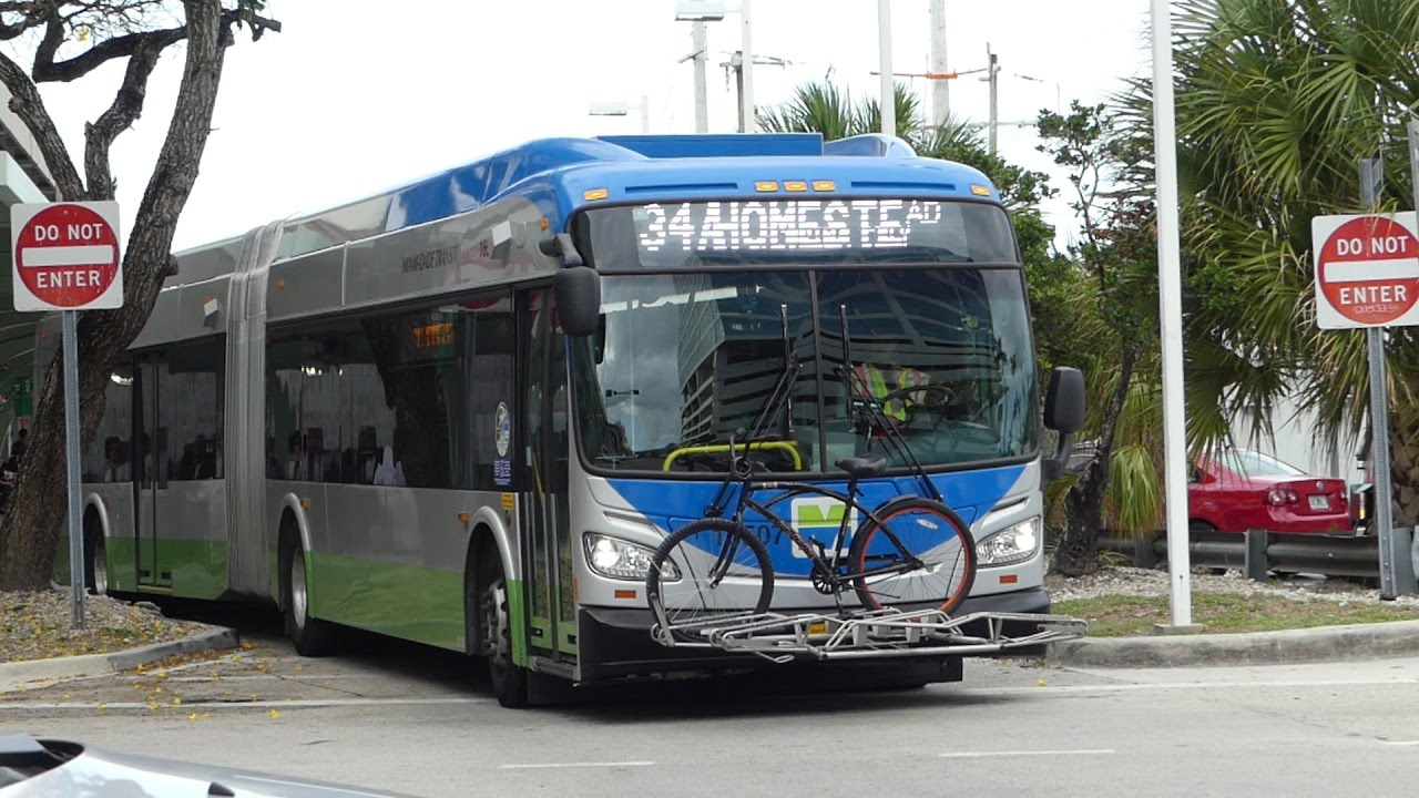 MDT Metrobus: 2016 New Flyer XDE60 #16507 & 2015 NABI 60-BRT #15518 Route  34A/B at Dadeland South
