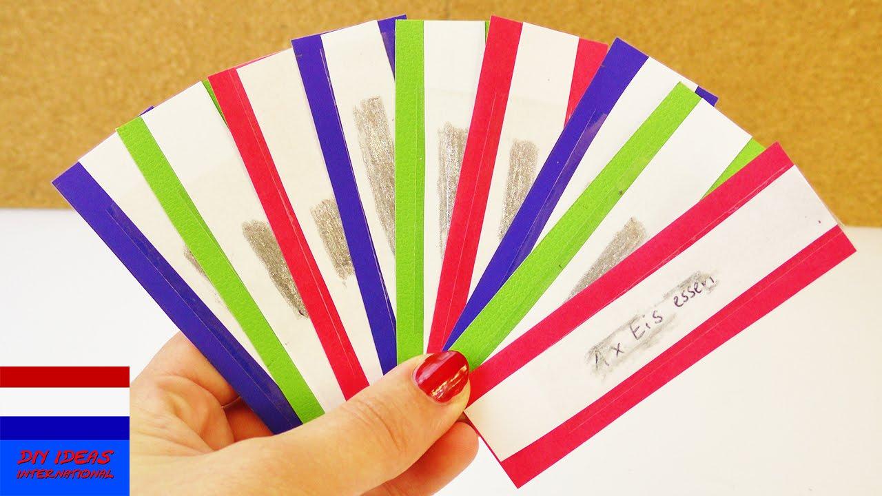 Genoeg kleurige krasloten zelf maken met nagellak en plakband | bonnen of  &JN36
