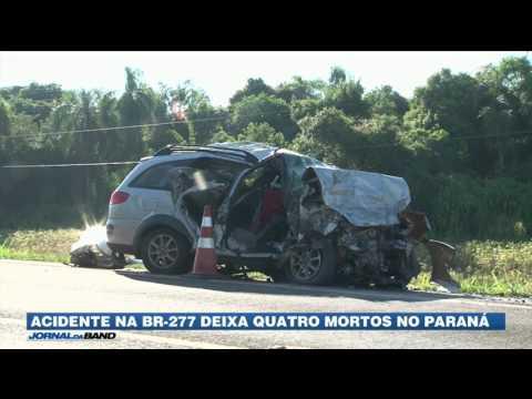 PR: Acidente deixa quatro mortos na BR-277