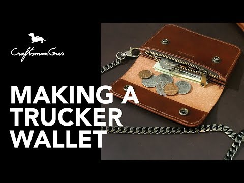 Making Leather Wallet : Trucker Wallet #LeatherAddict EP25