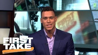 Aaron Judge talks historic season with Yankees and his pick for MVP | First Take | ESPN