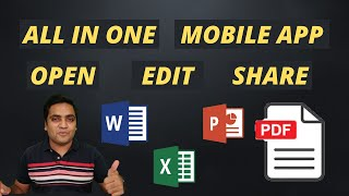 All in One App for Word - Excel - PowerPoint - PDF Files on Mobile in 2021 | Image Scanner screenshot 3