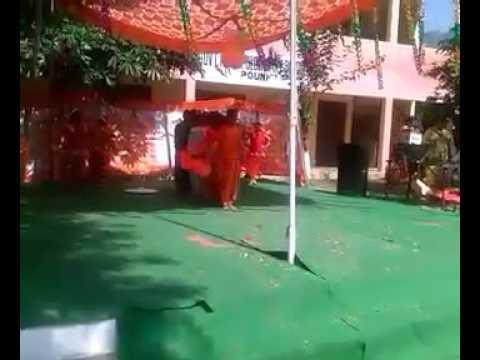 Patriotic song vande matram by Nature's lap intl.  School Pouni