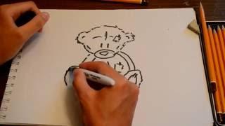 Как нарисовать мишку Тедди(Простой способ, как нарисовать мультяшного героя - мишка Тедди. Справиться как ребенок, так и взрослый.Компо..., 2016-07-18T10:53:59.000Z)