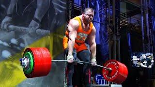 Strongman News | Ivan Makarov World Record Deadlift 501kg/1104lbs attempt