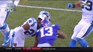 Video Shows Panthers Taunting Odell Beckham Before Controversial Hit