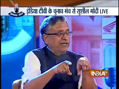 Former Deputy CM of Bihar Sushil Kumar Modi at Chunav Manch - India TV