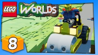 Lego Worlds Gameplay - LEGO STEAMROLLER FUN - PC Walkthrough Part 8 | Pungence