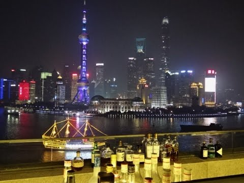 The Peninsula Hotel - rooftop bar Sir Elly's, Shanghai, China