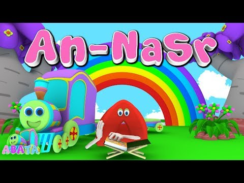 Animation 3D Juz Amma An - Nasr | Recite Quran with Battar Train Hijaiyah | ABATA Channel