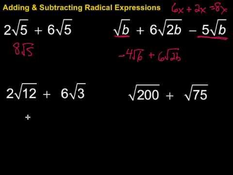 math worksheet : adding  subtracting radical expressions  youtube : Adding Subtracting Radicals Worksheet