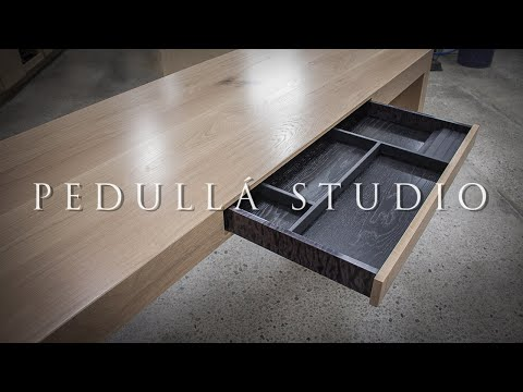 American White Oak Office Desk - Build video by Pedulla Studio