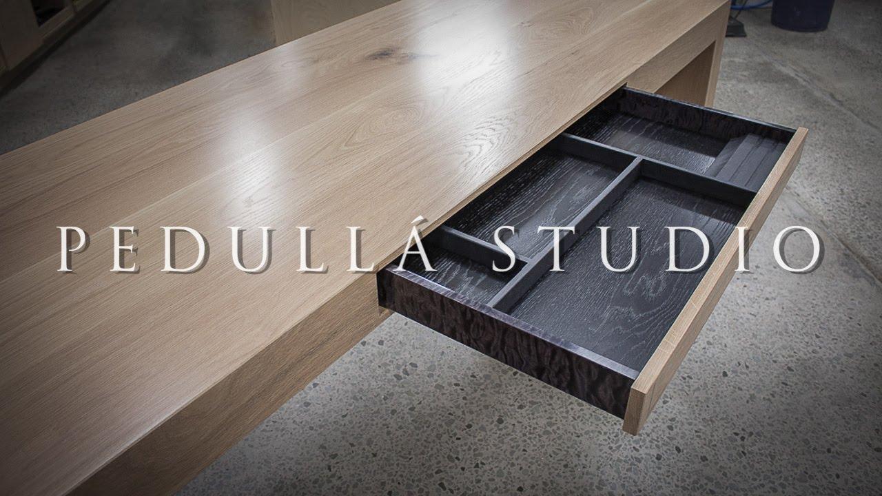 American White Oak Office Desk Build By Pedulla Studio