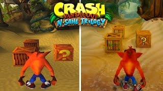 Crash N-Sane Trilogy vs. Crash Bandicoot 1 (COMPARACIÓN - Intro, Heavy Machinery, N.Sanity Beach)