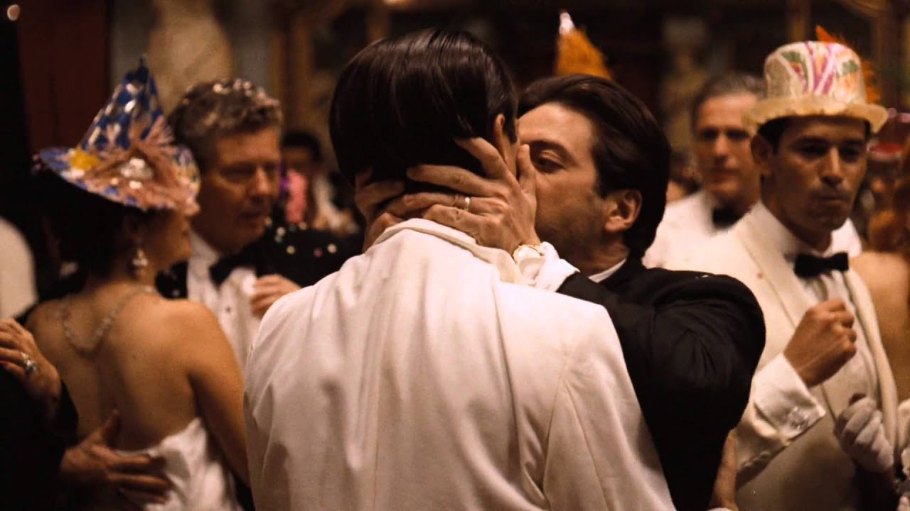 Image result for michael corleone kissing fredo