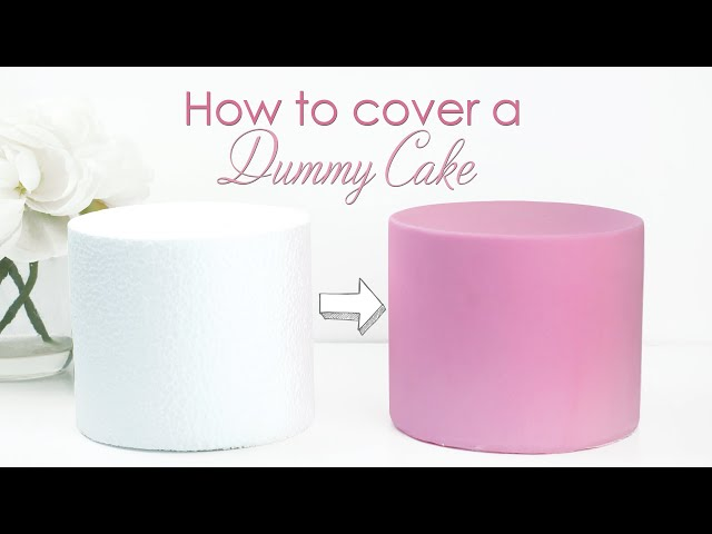 How to Prepare and Cover a Polystyrene Cake Dummy Tutorial