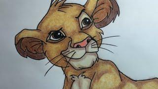Como desenhar o Simba / How to draw Simba