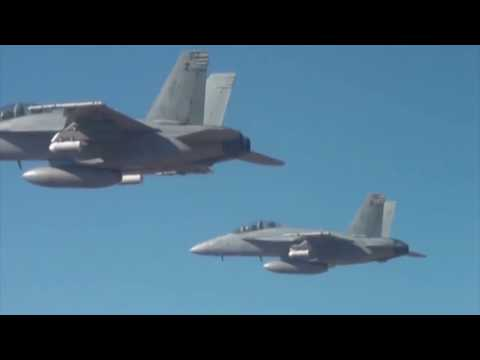 US military F-18 launch Drone swarm in tests at China Lake