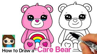 How to Draw a Care Bear   Cheer Bear