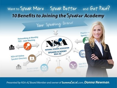 10 Tips for How to Become a Successful Professional Speaker: NSA-Arizona