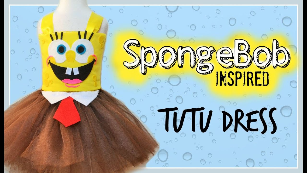 no sew spongebob inspired costume tutu youtube