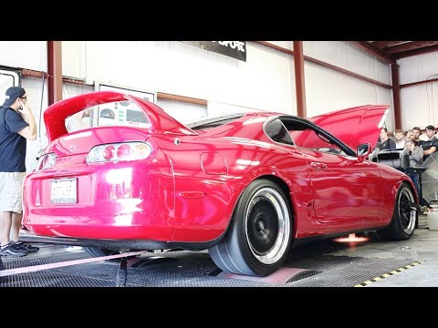 toyota supra single turbo dyno youtube. Black Bedroom Furniture Sets. Home Design Ideas