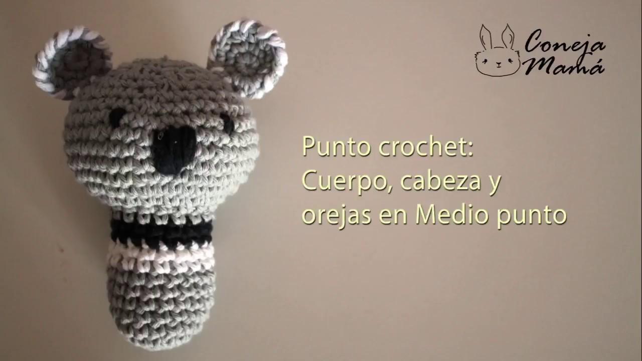 Tutorial amigurumi sonajero koala tejido en crochet - YouTube