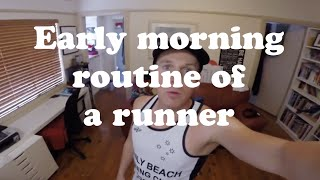 90 second running tips - early morning routine (what to do before you go for a run)