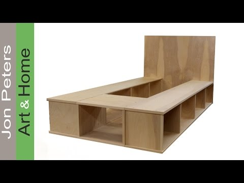 Build a Platform Bed with Storage - Part 1 - YouTube