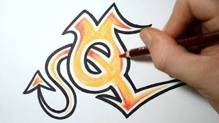 How to Draw Wild Graffiti Letters - Q