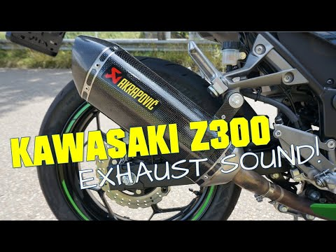 kawasaki z300 stock and akrapovic exhaust sound no db. Black Bedroom Furniture Sets. Home Design Ideas