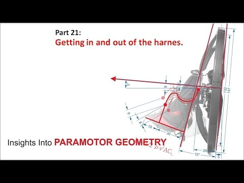 Paramotor geometry part 21: Getting in and out of the harness.