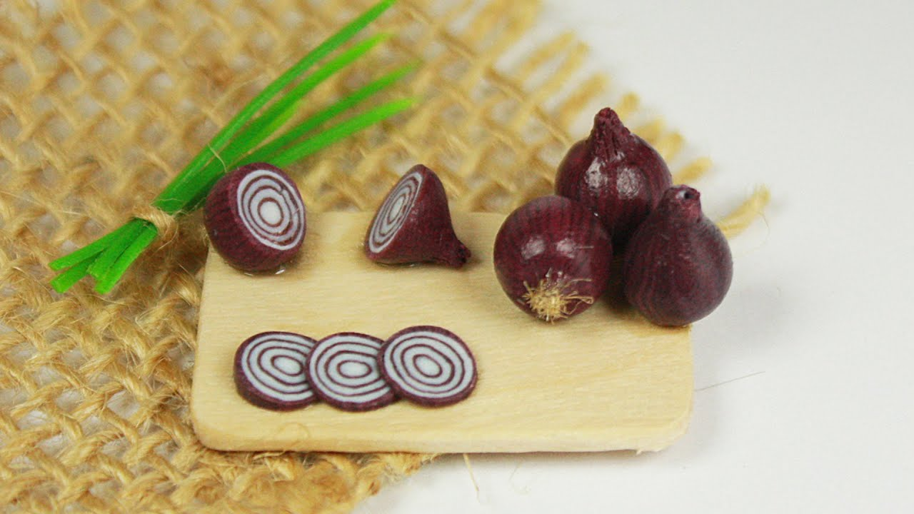 Polymer clay red onion tutorial polymer clay food youtube for Polymere cuisine