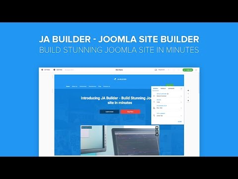 JA Builder Introduction - Build Stunning Joomla Site In Minutes