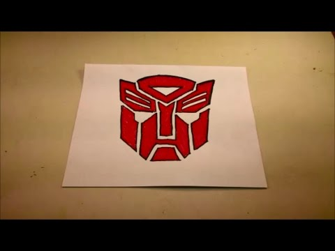 How To Draw The Autobot Symbol Youtube