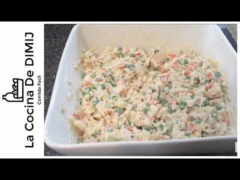 como hacer ensalada de verduras con pollo