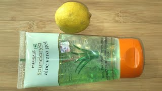 Aloe Vera and Lemon Face Mask for Skin Whitening
