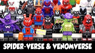 Spider-Man Into the Spider-Verse Venomverse Poison-X Venomized Unofficial Lego Minifigures