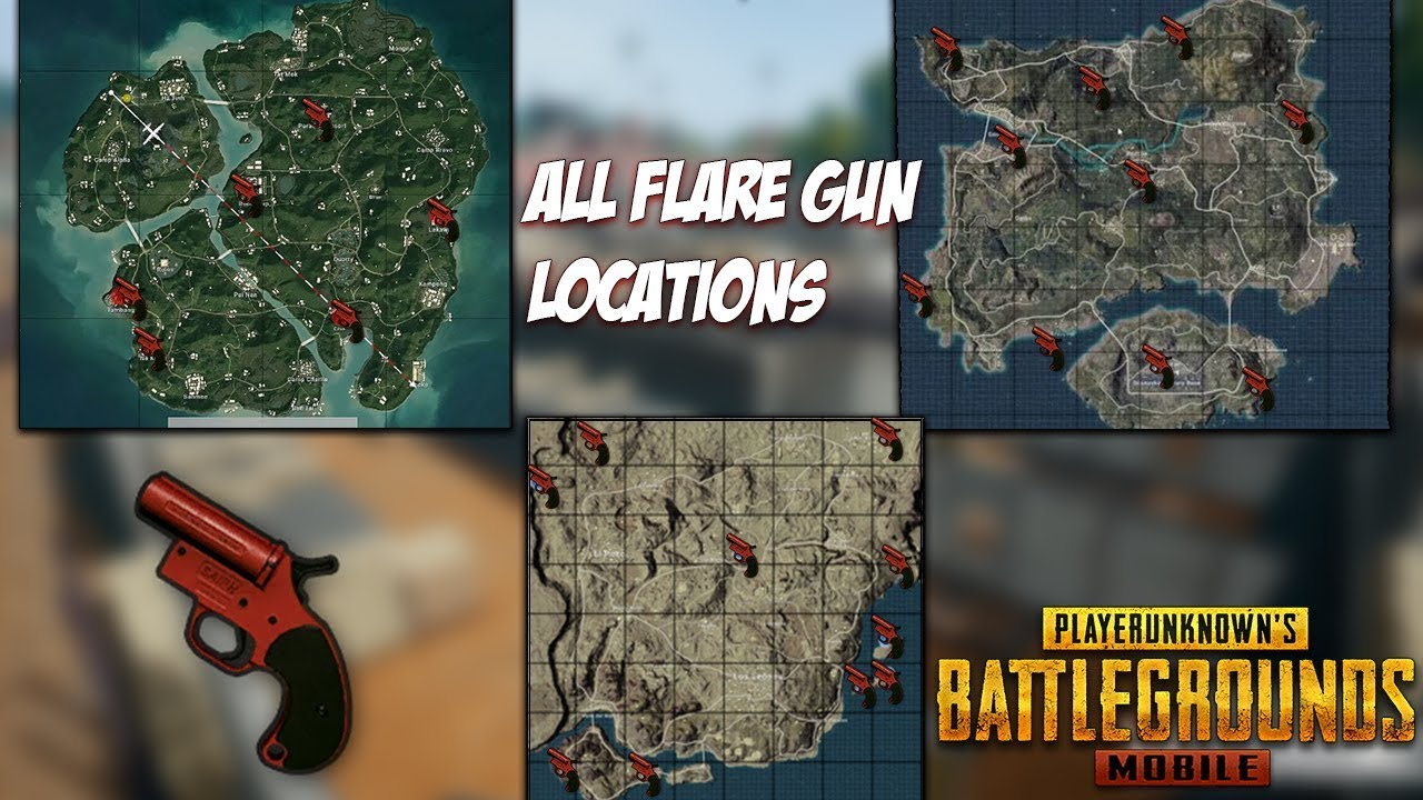 Pubg Mobile All Flare Gun Locations Erangel Miramar Sanhok