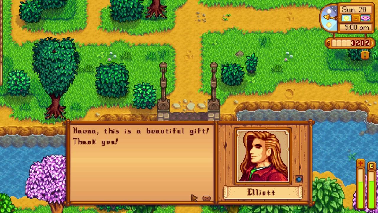 What is Elliots' Favorite gift - Stardew Valley