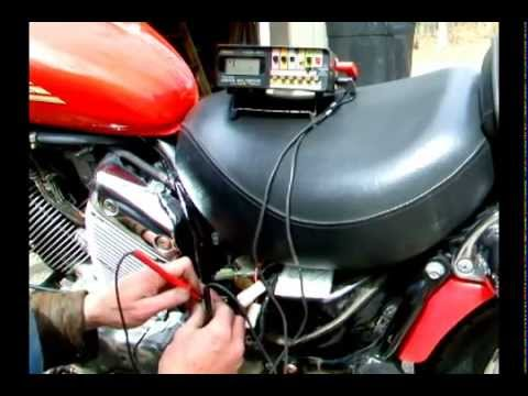 How to test a motorcycle stator with a VOM