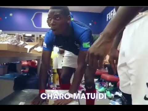 Paul Pogba singing in the dressing room - France celebrates World Cup victory