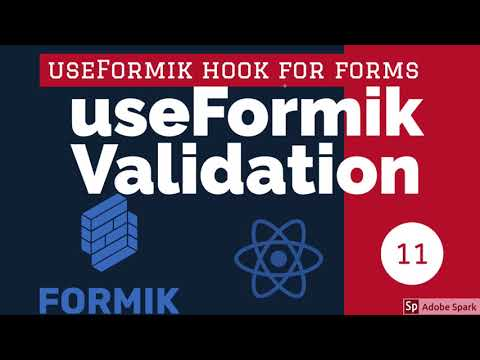 React Formik Using useFormik Hook with Validation #13