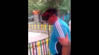 В горьким парке в алмате поезд избил девочку!!!  Смотреть до конца жесть!!!!