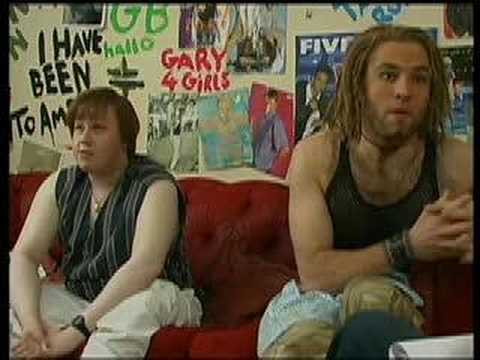 Lucas & Walliams as Gary Barlow & Howard Donald