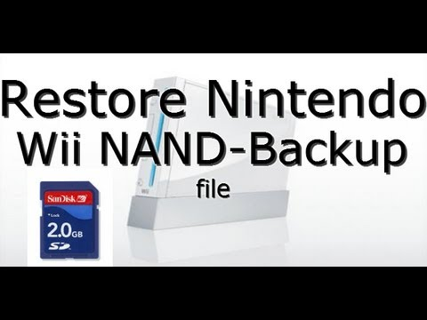 How To Restore Nintendo Wii NAND Backup File - RestoreMii Bootmii