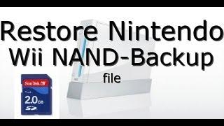 How To Restore Nintendo Wii NAND Backup File - RestoreMii