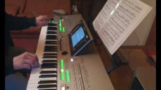 The lonely shepherd - Traditional romanian score. Live on Tyros 3. Version 2 (SA2)
